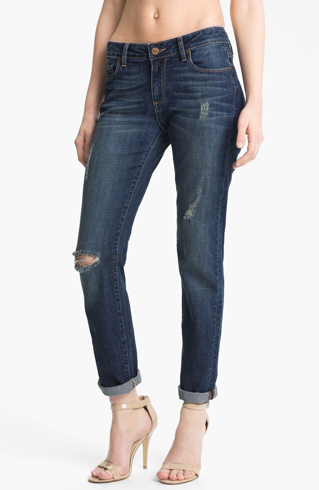 Alternate Image 1 Selected - Paige Denim 'Jimmy Jimmy' Distressed Boyfriend Jeans (Tawni Destruction)