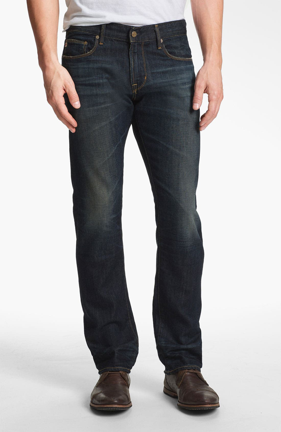 Alternate Image 1 Selected - AG Jeans 'Geffen Easy Slim' Straight Leg Jeans (5 Years Raw Fade)
