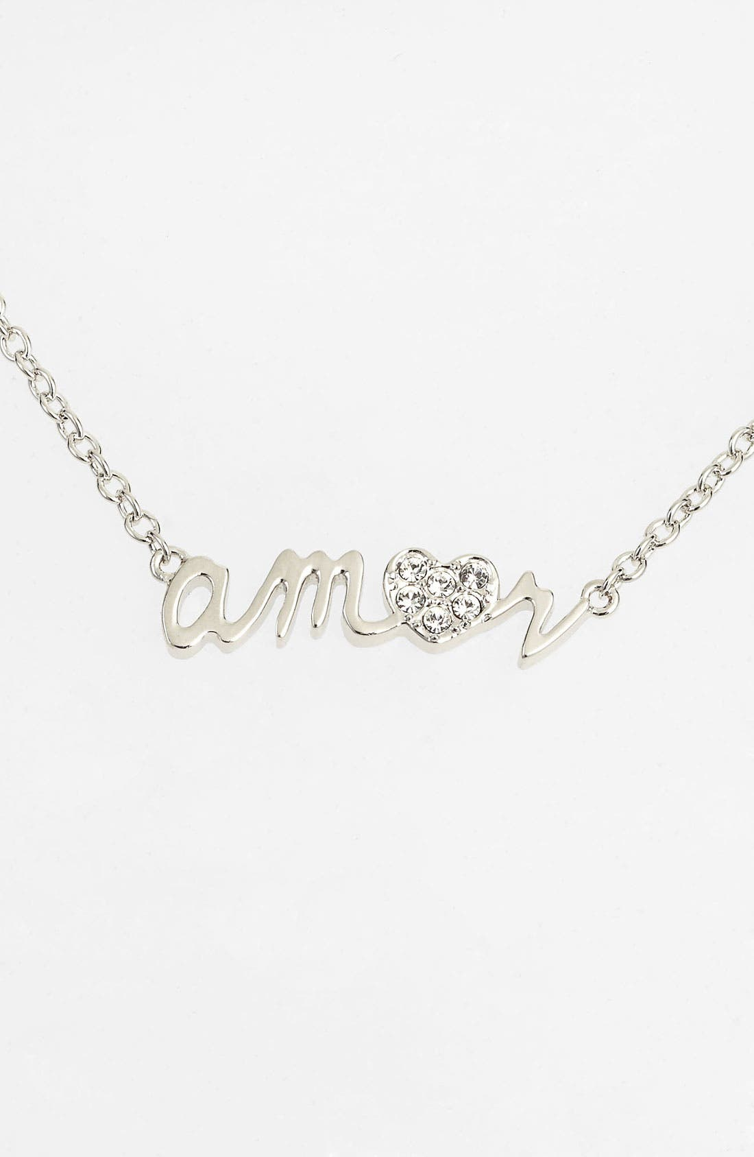 Main Image - Ariella Collection 'Messages - Amor' Script Pendant Necklace