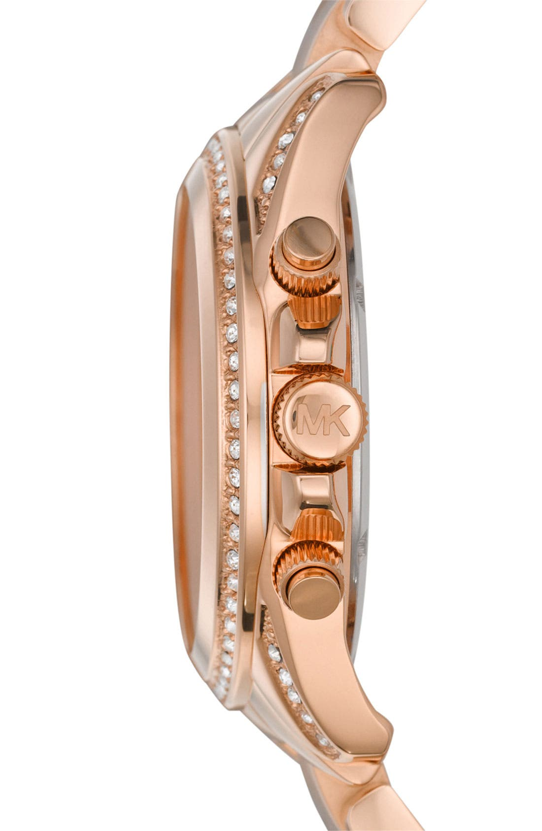Michael Kors 'Blair' Chronograph Watch, 39mm,                             Alternate thumbnail 3, color,                             Rose Gold