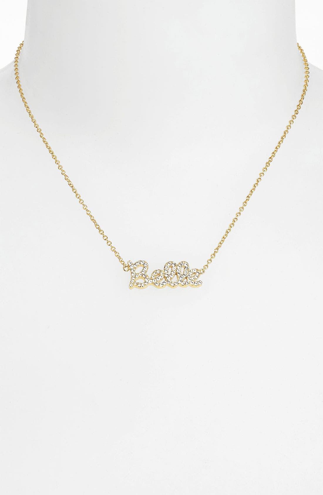 Alternate Image 2  - Ariella Collection 'Messages - Belle' Script Pendant Necklace