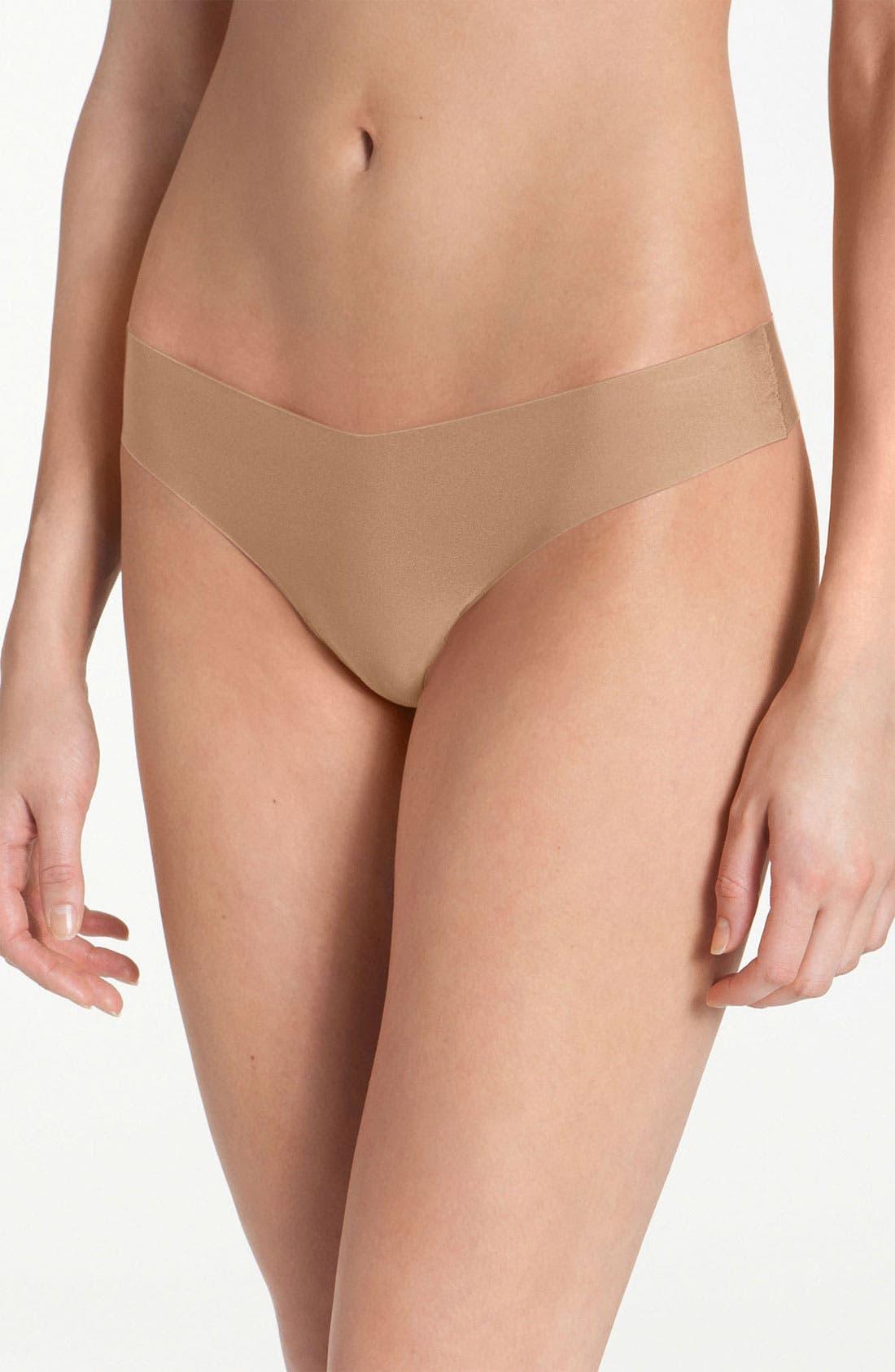 Microfiber Thong,                         Main,                         color, True Nude