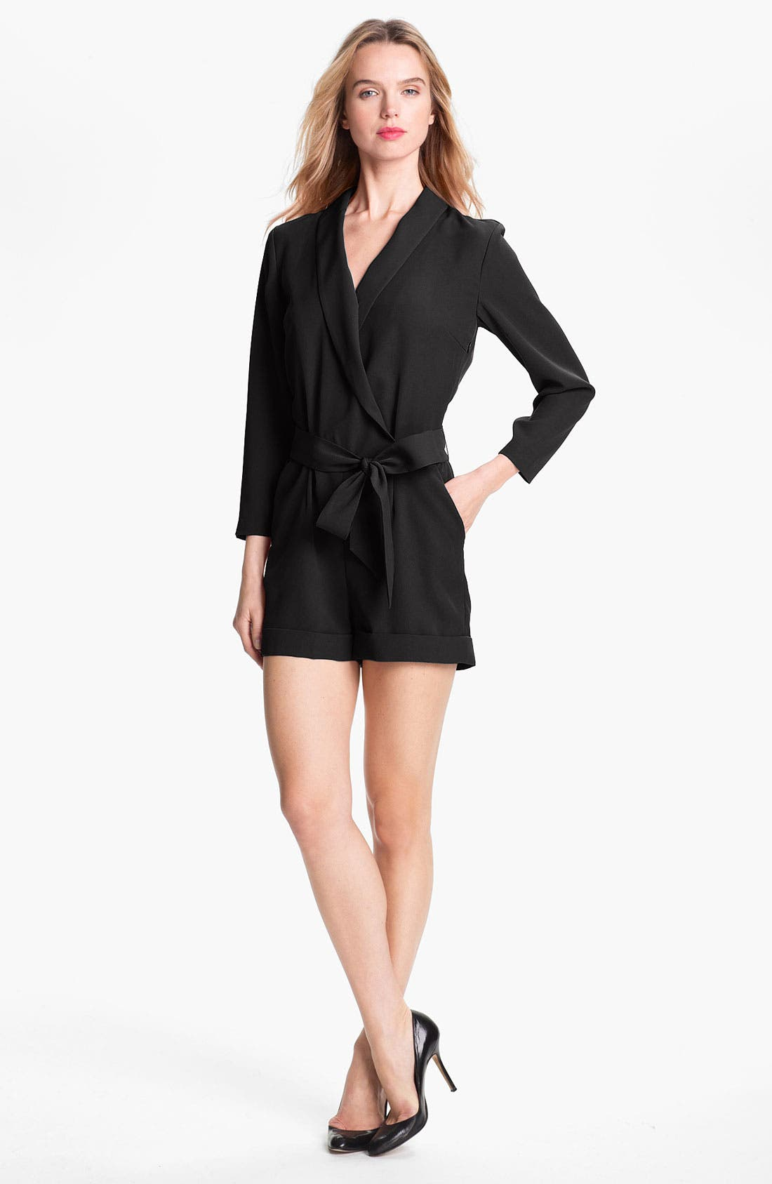 Alternate Image 1 Selected - Ted Baker London Faux Wrap Jumpsuit (Online Only)