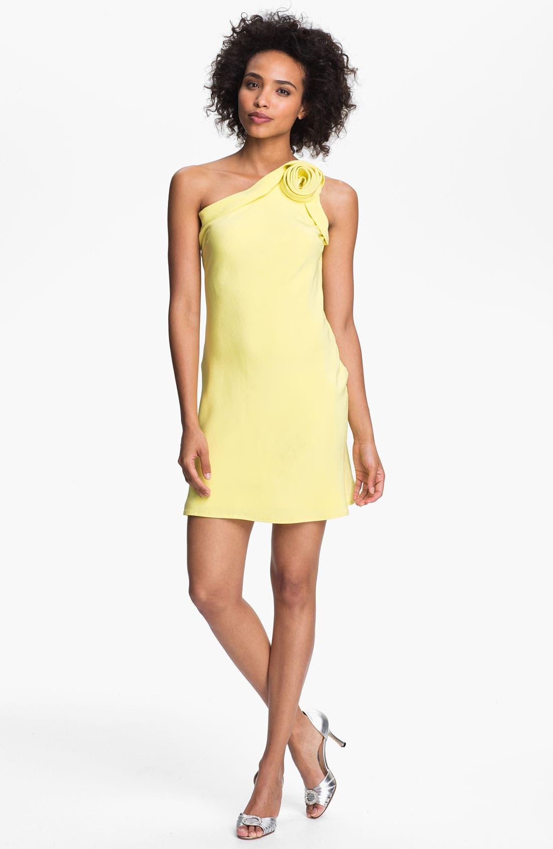 Main Image - A.B.S. by Allen Schwartz Rosette One Shoulder Dress