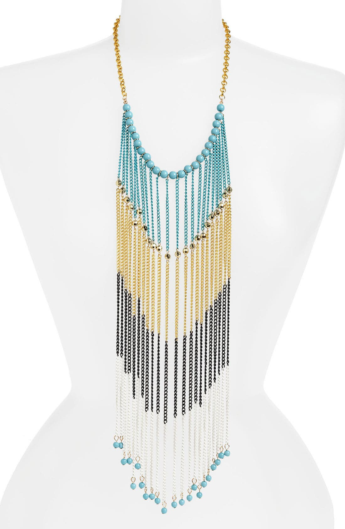 Main Image - BP. Mixed Metal Chain Fringe Necklace