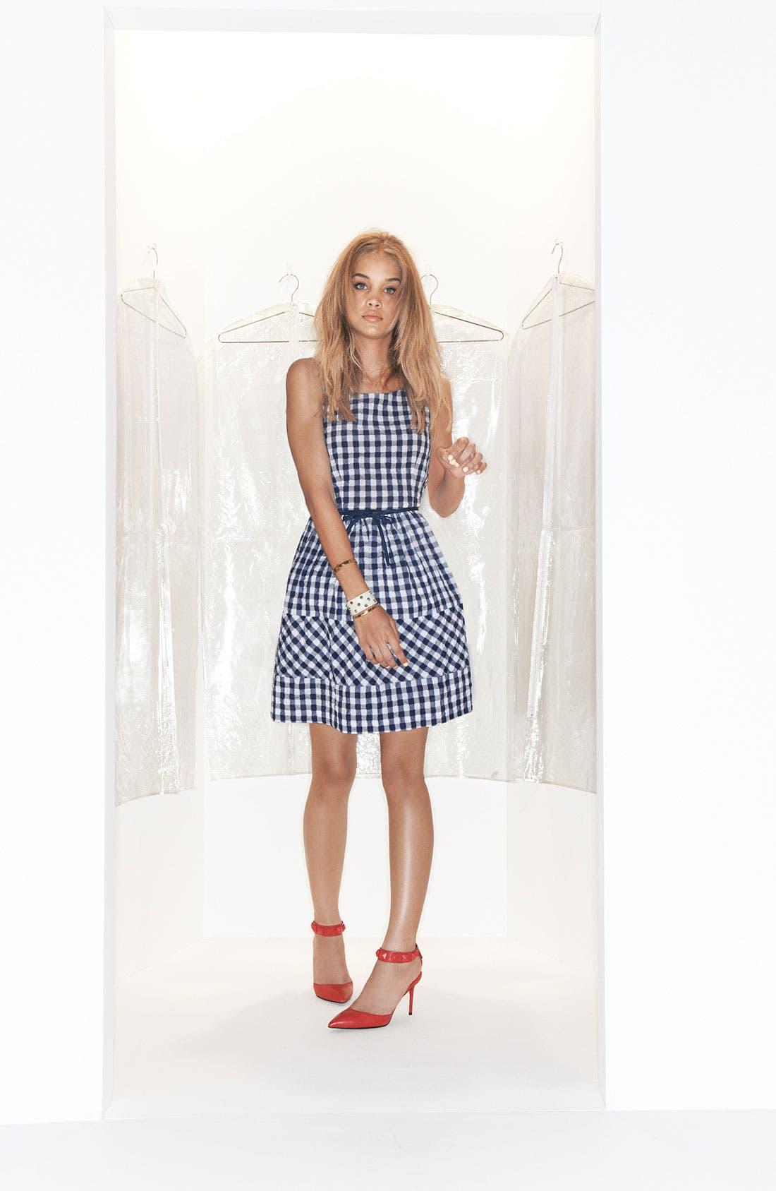 Alternate Image 4  - Taylor Dresses Gingham Fit & Flare Dress
