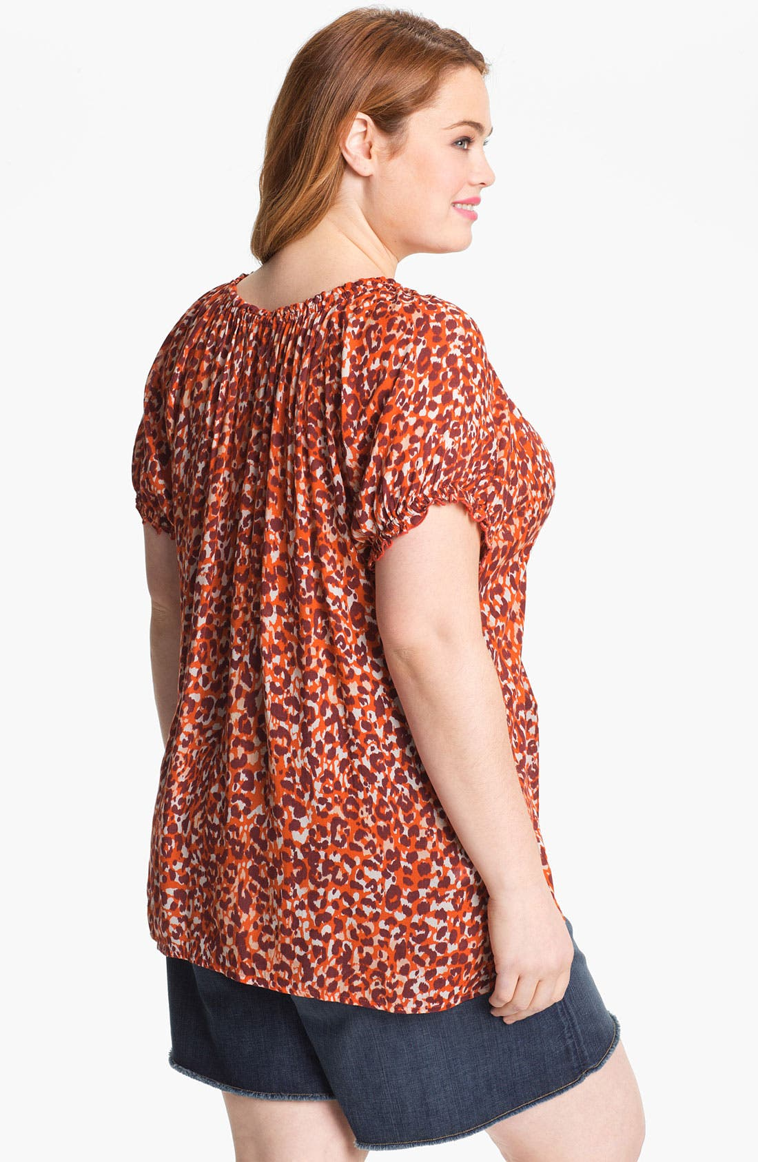Alternate Image 2  - Lucky Brand 'Mayan' Print Top (Plus)