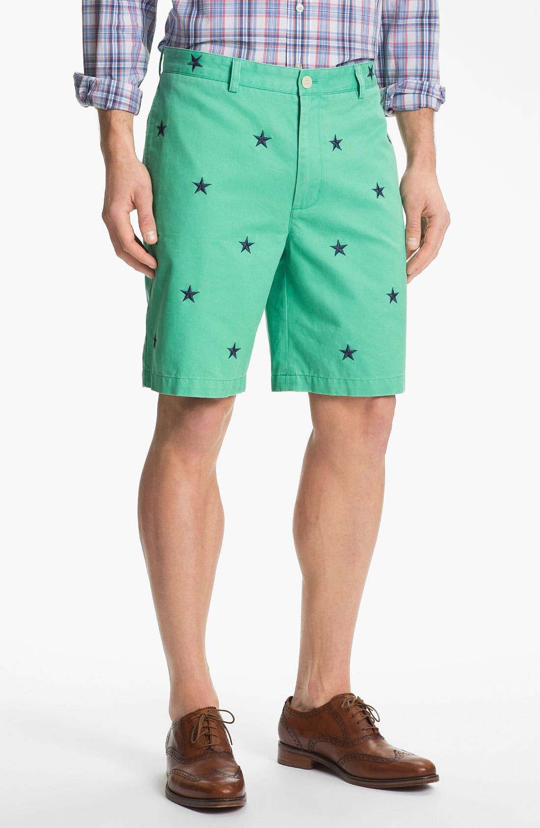 Alternate Image 1 Selected - Vineyard Vines Regular Fit Embroidered Shorts