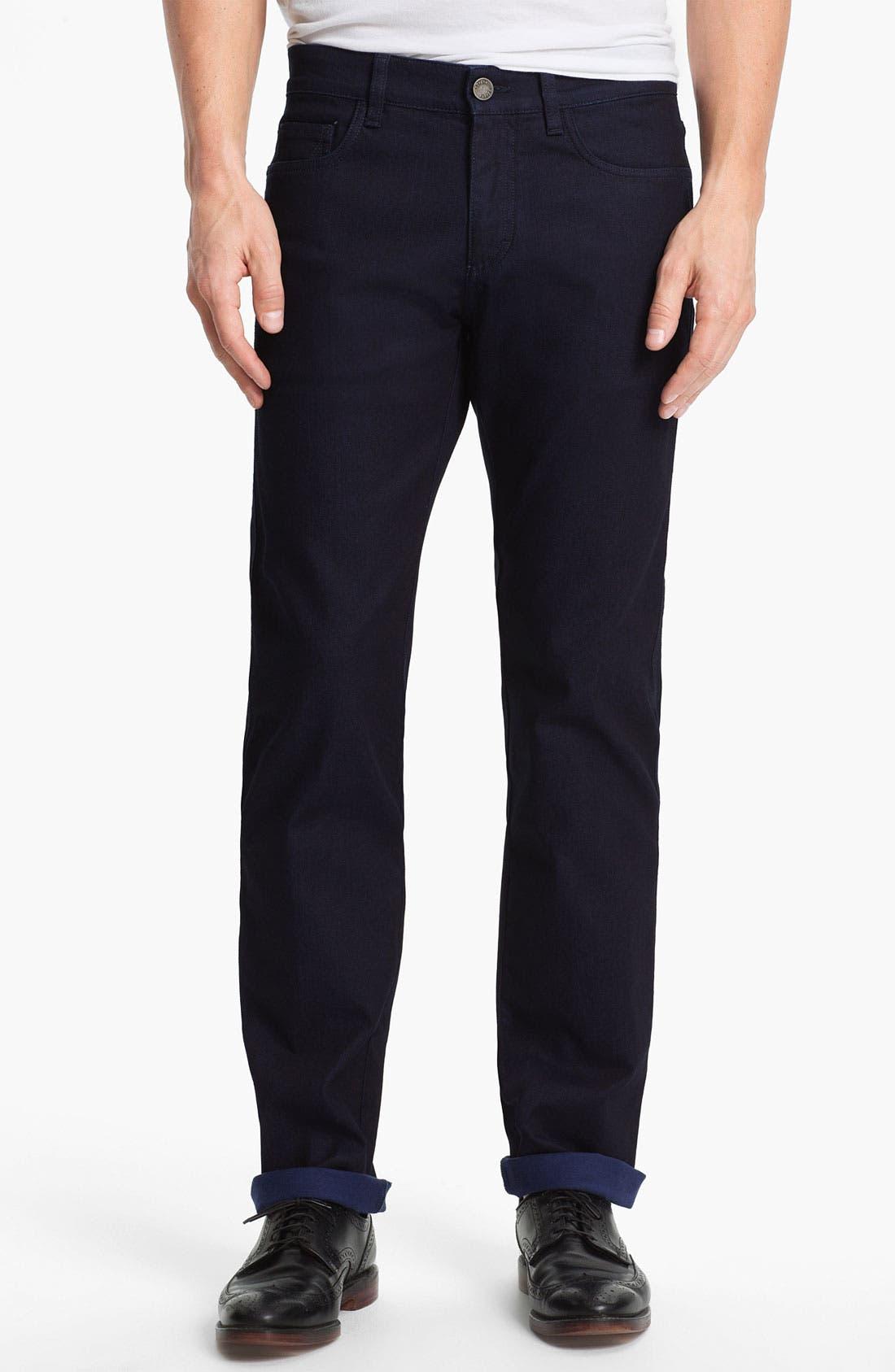 Alternate Image 1 Selected - Z Zegna Straight Leg Jeans (Navy)