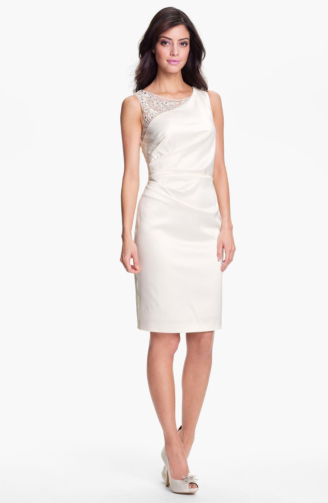 Alternate Image 1 Selected - Eliza J Embellished Ruched Sheath Dress