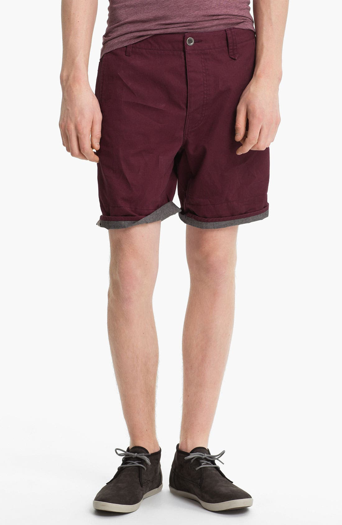 Main Image - Topman Turn-Up Chino Shorts