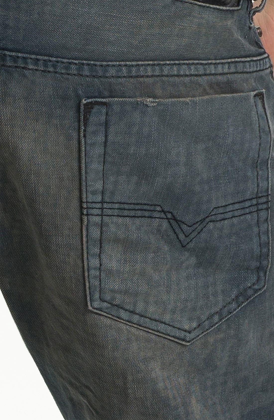 Alternate Image 4  - DIESEL® 'Safado' Straight Leg Jeans (Electric Blue)