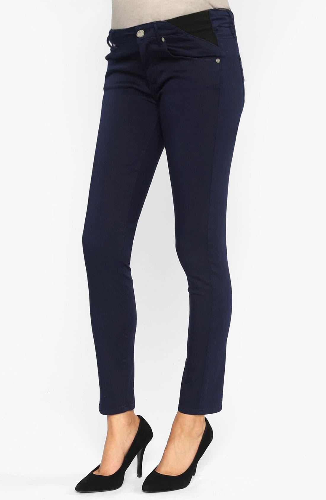 Main Image - Paige Denim 'Verdugo' Maternity Ankle Ultra Skinny Jeans (Pacific Dusk)