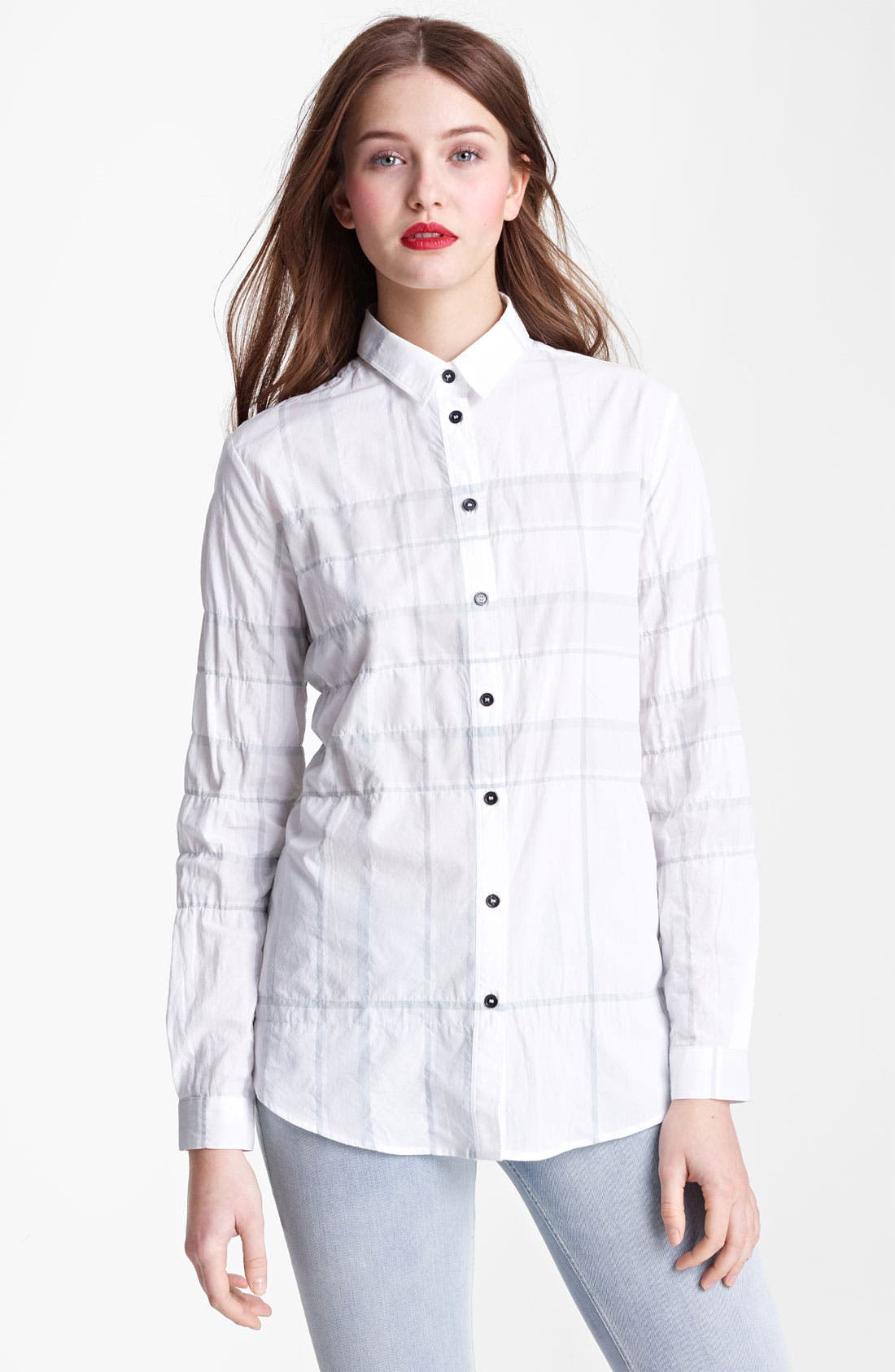 Alternate Image 1 Selected - Burberry Brit Check Print Tunic