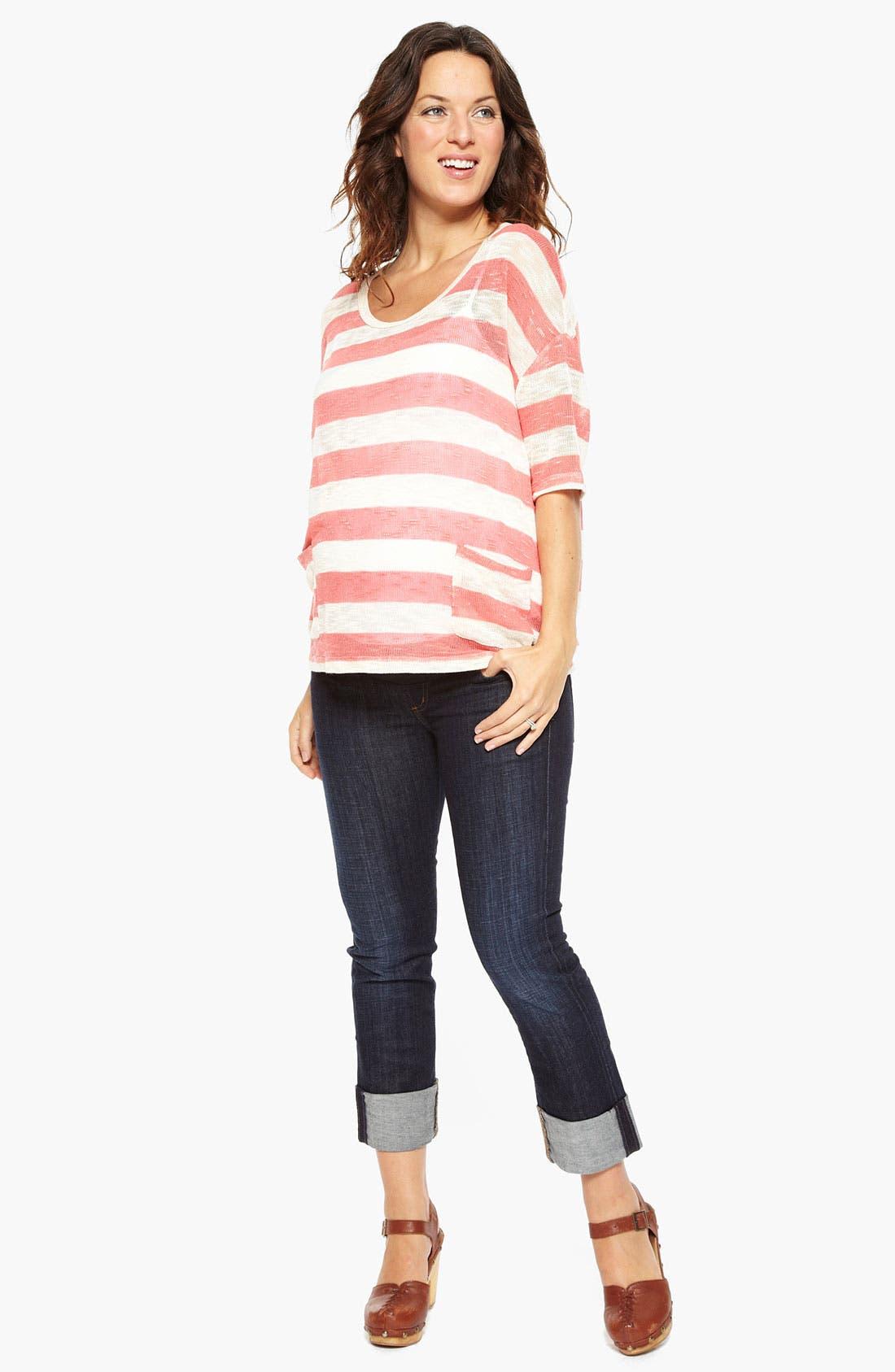 Alternate Image 1 Selected - Nom Maternity 'Hope' Maternity Boyfriend Sweater