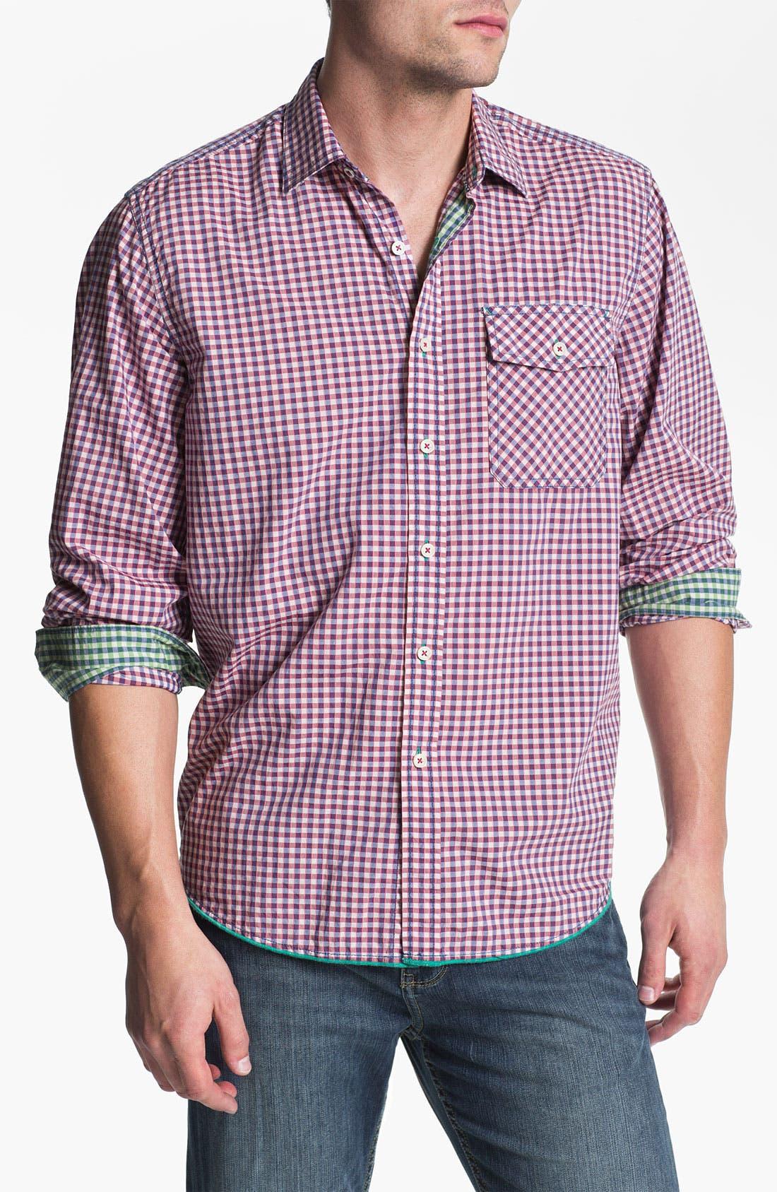 Alternate Image 1 Selected - Tommy Bahama Denim 'Cape Check' Sport Shirt