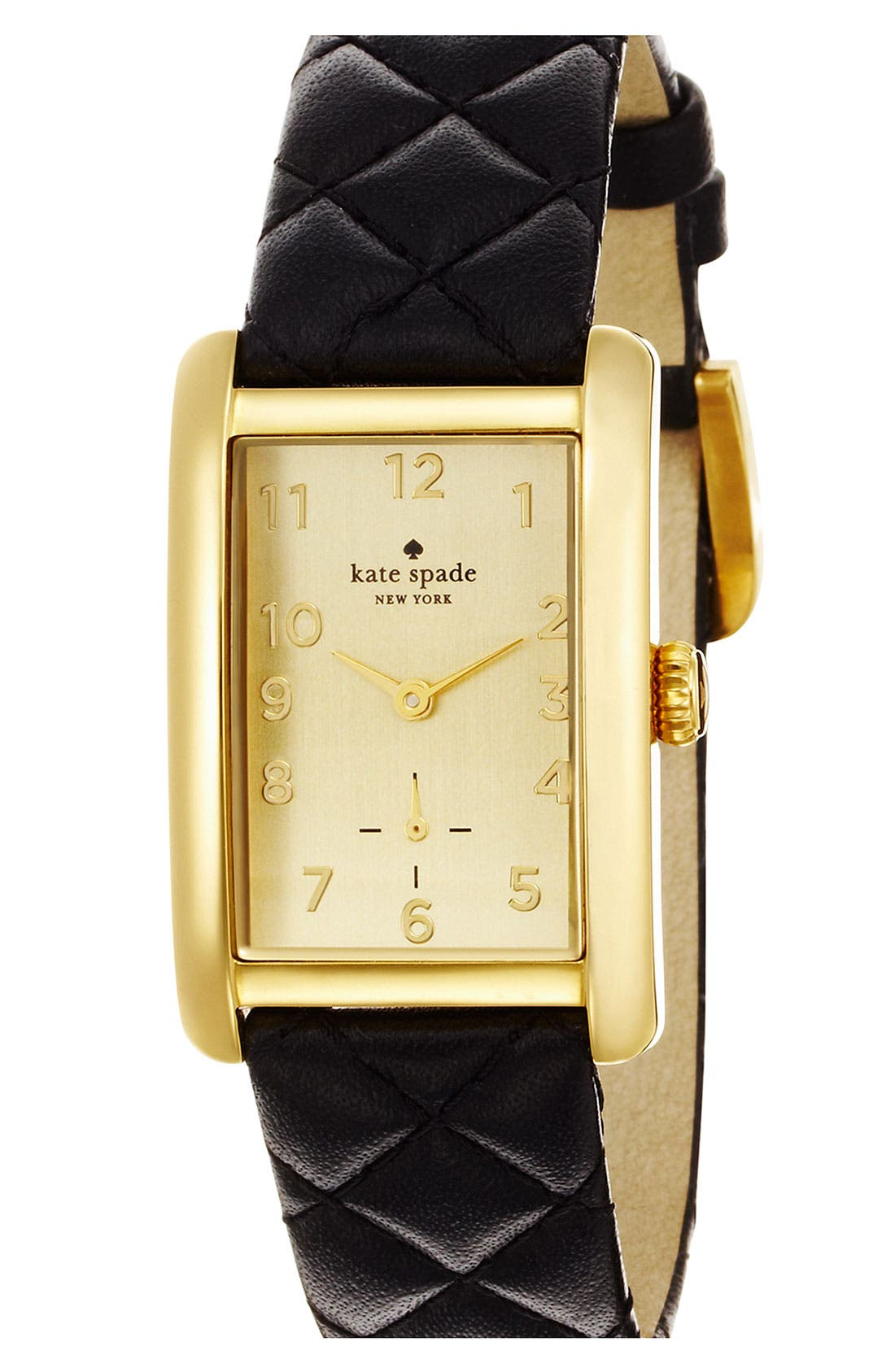 Alternate Image 2  - kate spade new york 'cooper grand' leather strap watch, 25mm x 38mm