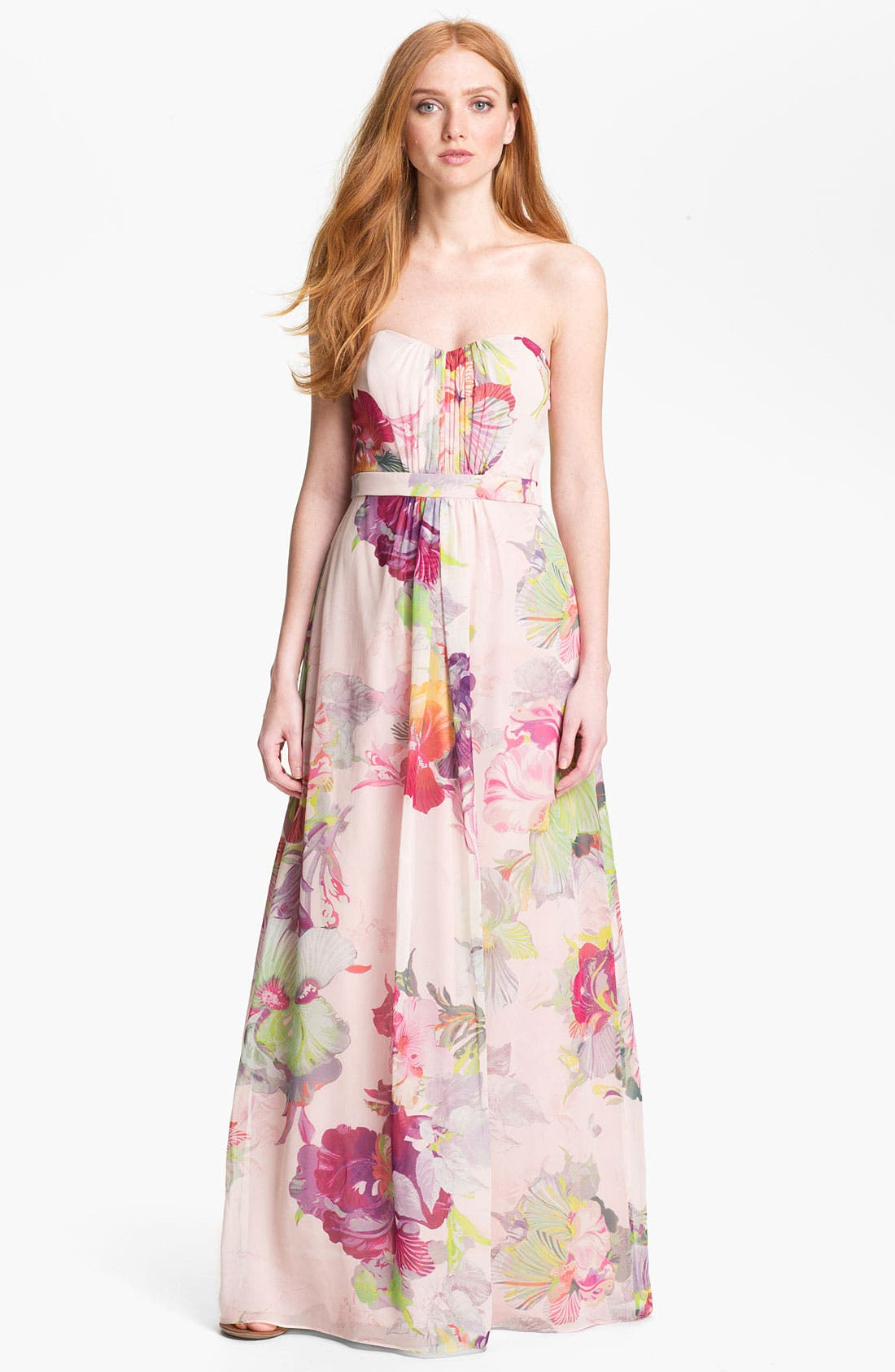 Main Image - Ted Baker London 'Treasured Orchid' Silk Maxi Dress (Online Only)