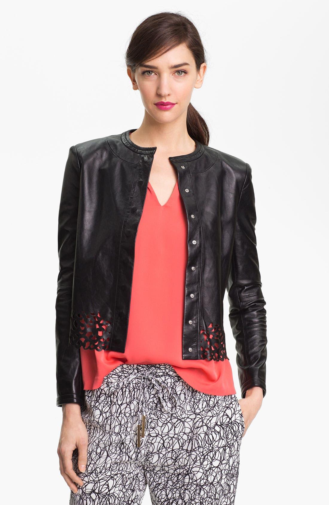 Main Image - Diane von Furstenberg 'Merryl' Crop Leather Jacket