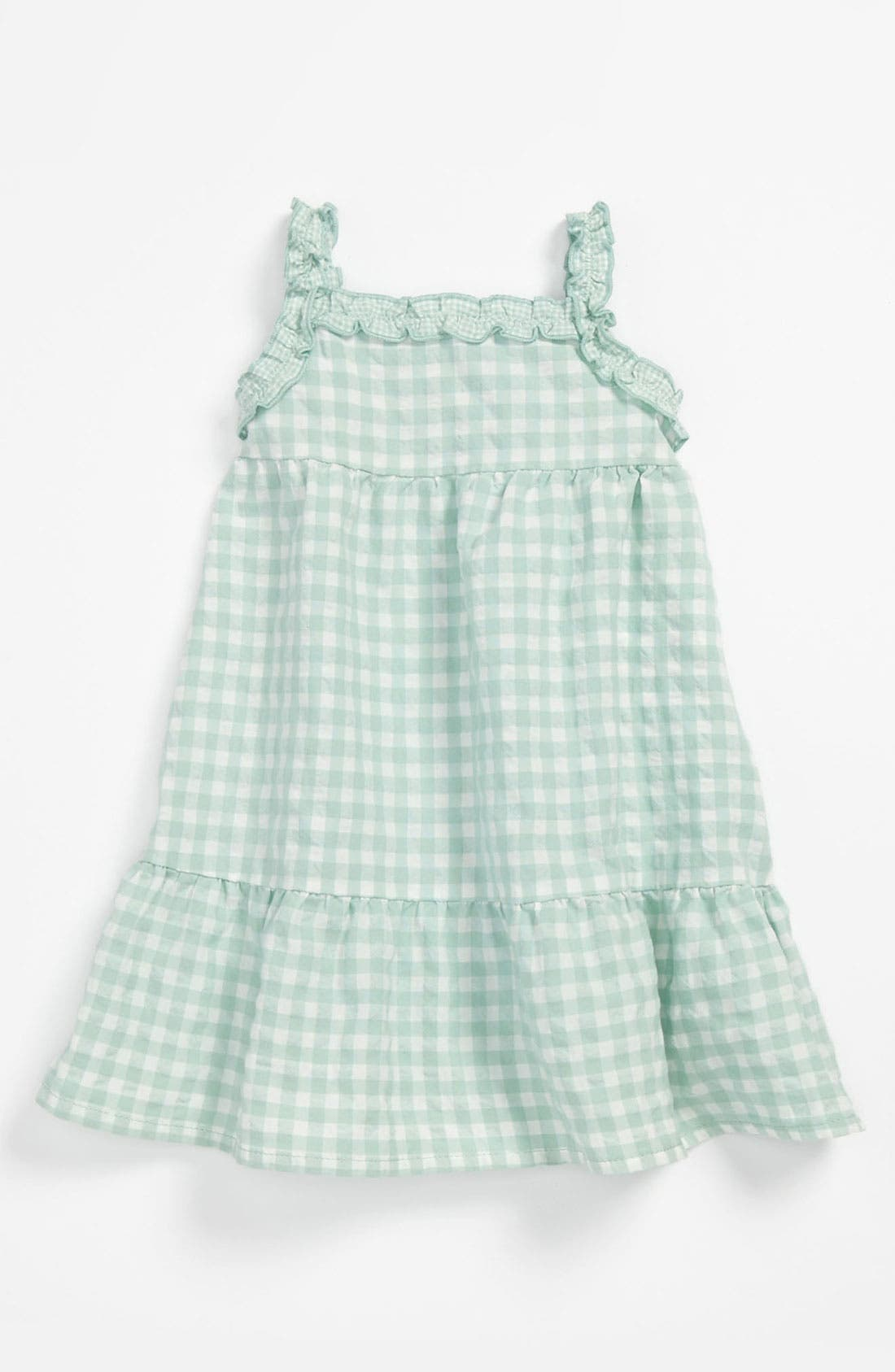 Alternate Image 1 Selected - United Colors of Benetton Kids Gingham Dress (Infant)