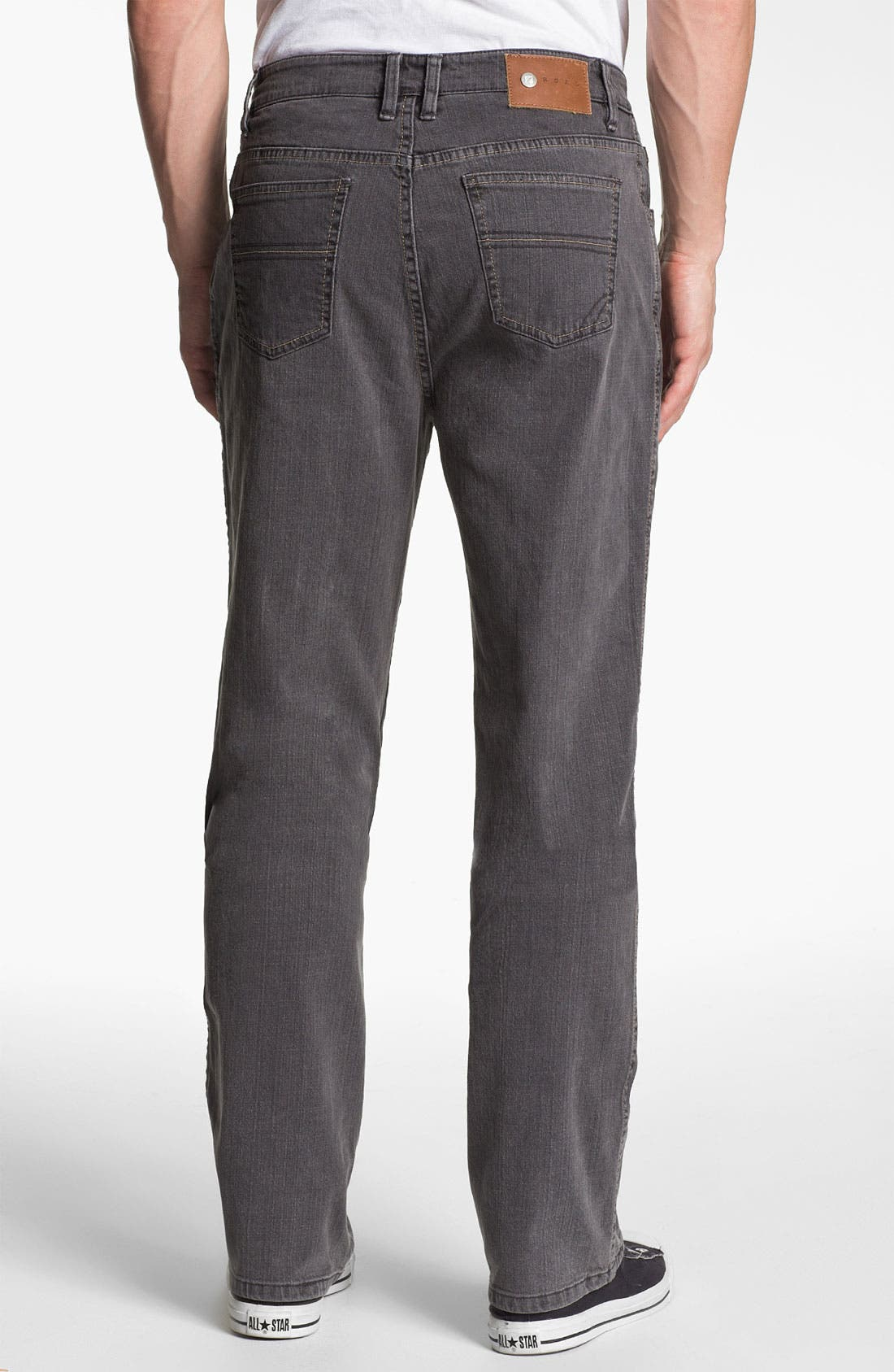 Alternate Image 2  - ROAD 'Abbey Stretch' Relaxed Fit Straight Leg Jeans (Smoke)