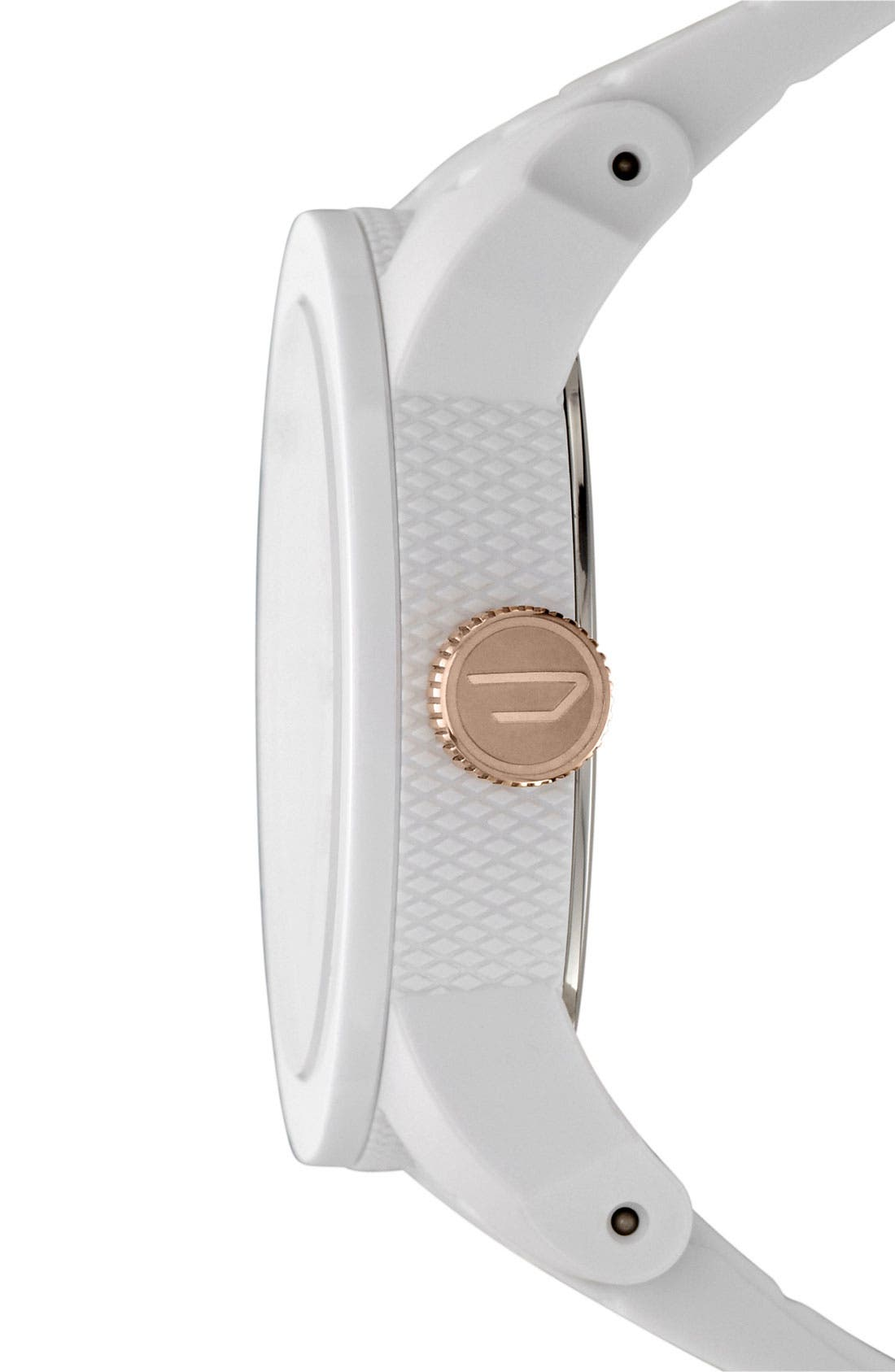 Alternate Image 2  - DIESEL® 'Franchise' Silicone Strap Watch, 44mm