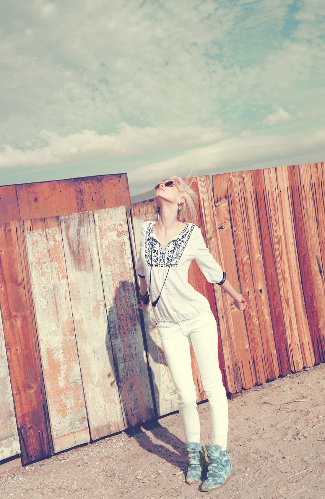 Alternate Image 4  - AG Jeans 'Stilt' Cigarette Leg Stretch Jeans (White)