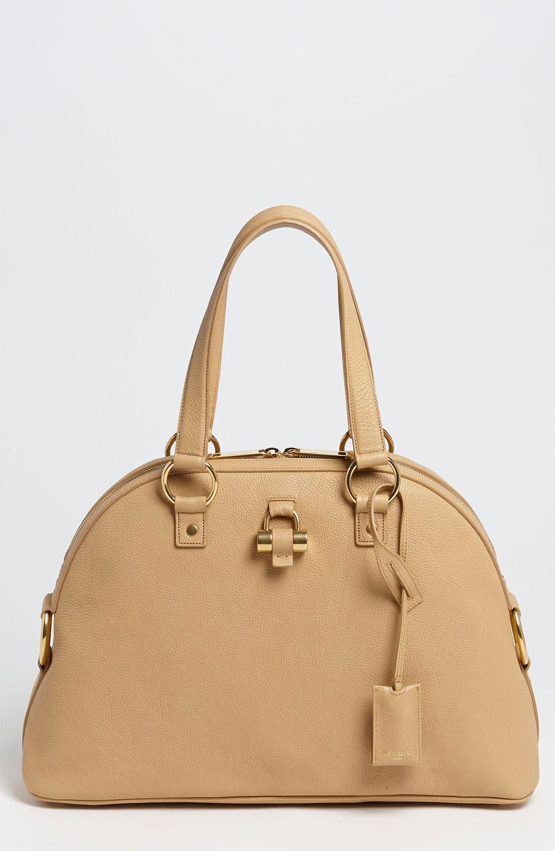 Main Image - Saint Laurent 'Muse - Medium' Leather Dome Satchel