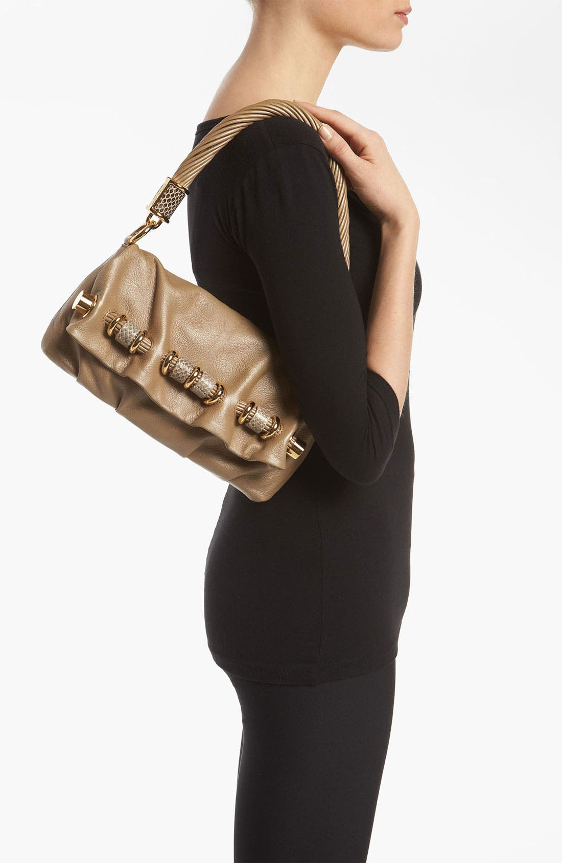 Alternate Image 2  - Michael Kors 'Tonne - Small' Calfskin Leather Shoulder Bag
