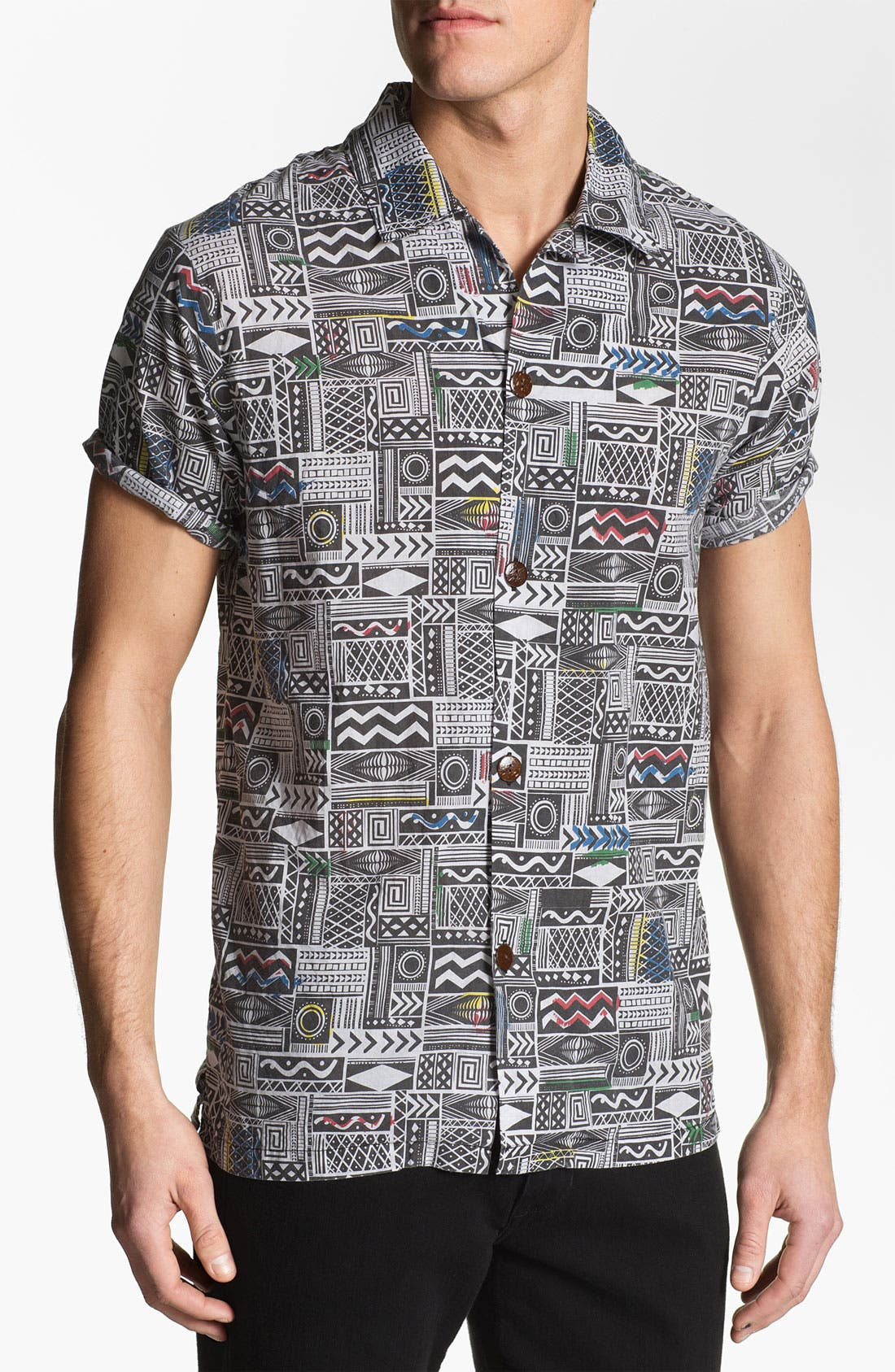 Main Image - Vanguard 'Sonic Jungle' Print Woven Shirt
