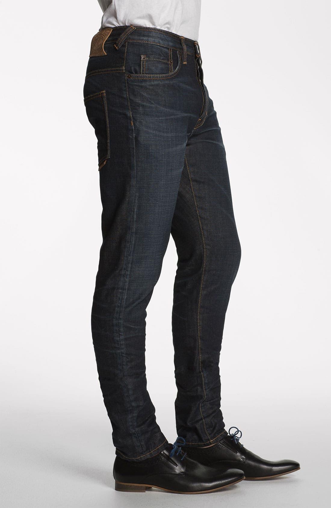 Alternate Image 3  - Natural Selection Denim 'Bruised' Slim Carrot Fit Jeans (Blue Rain)