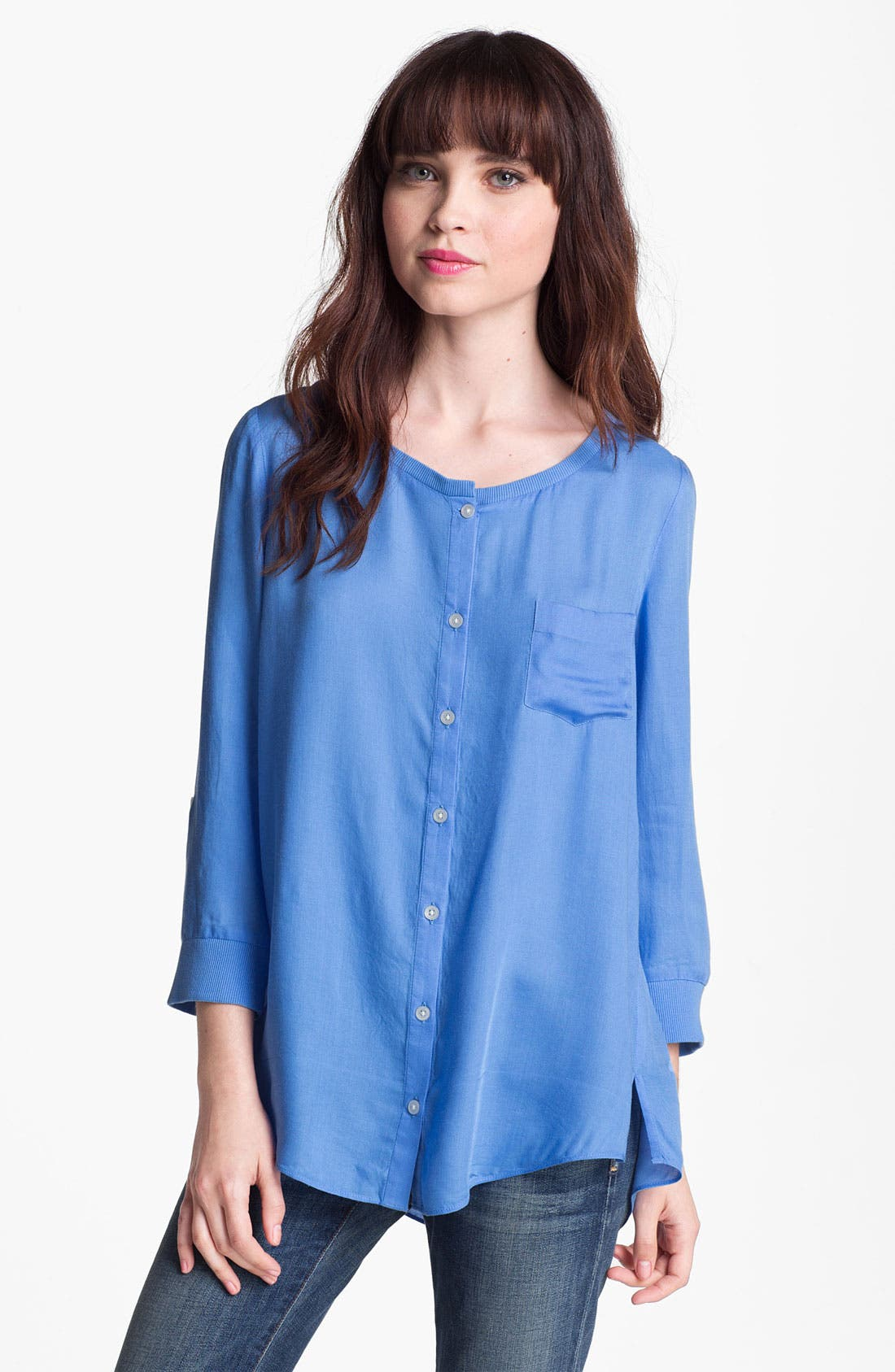 Alternate Image 1 Selected - Soft Joie Roll-Tab Pocket Blouse