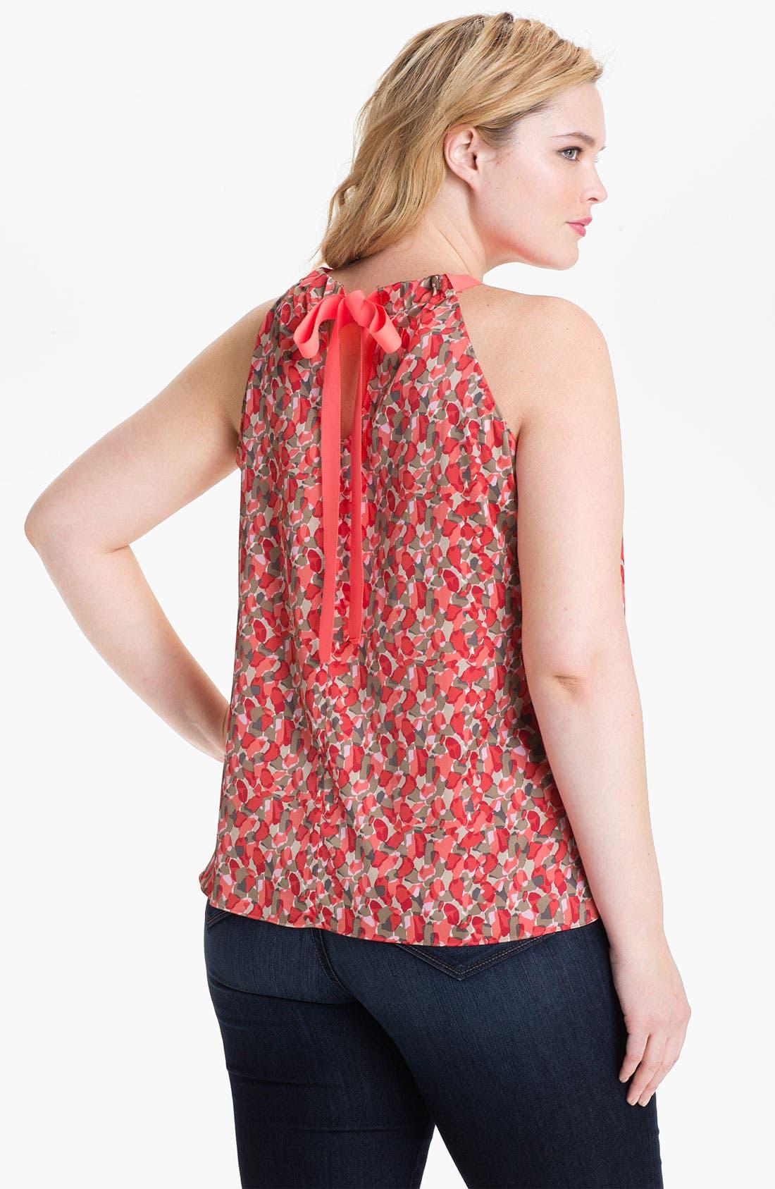 Alternate Image 2  - Tahari Woman 'Dawn' Sleeveless Print Blouse (Plus)