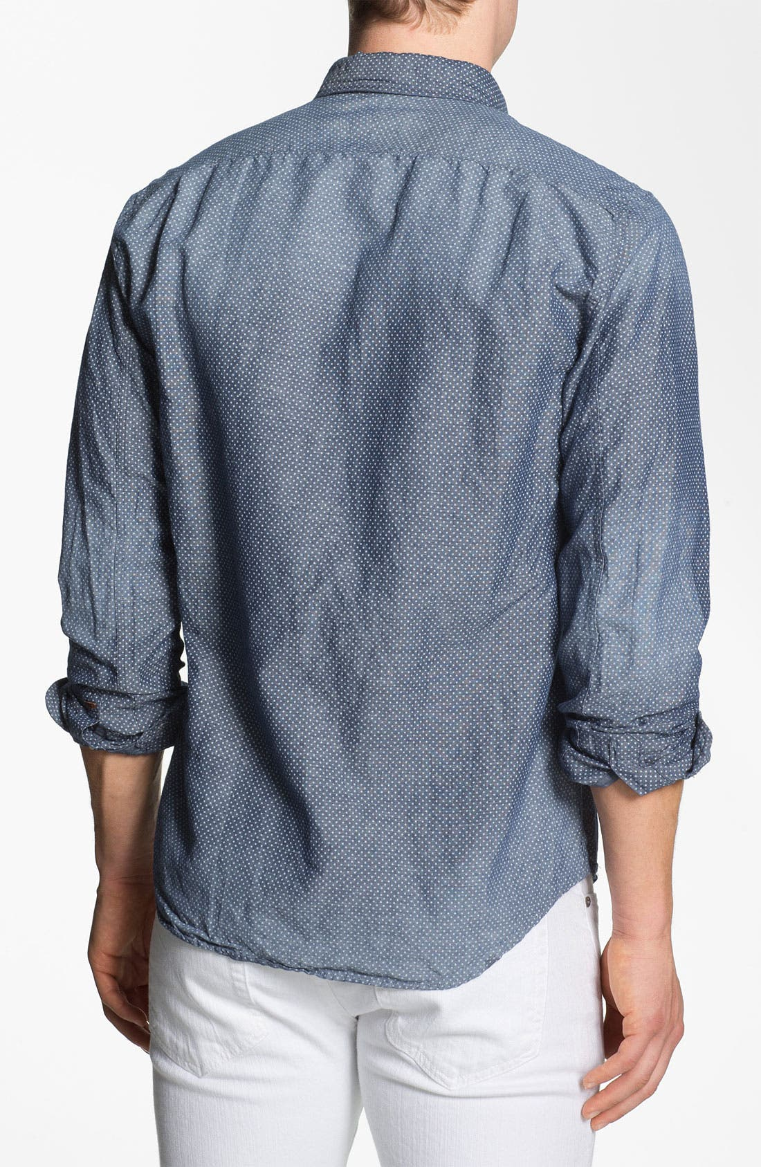 Alternate Image 2  - Scotch & Soda Trim Fit Chambray Shirt