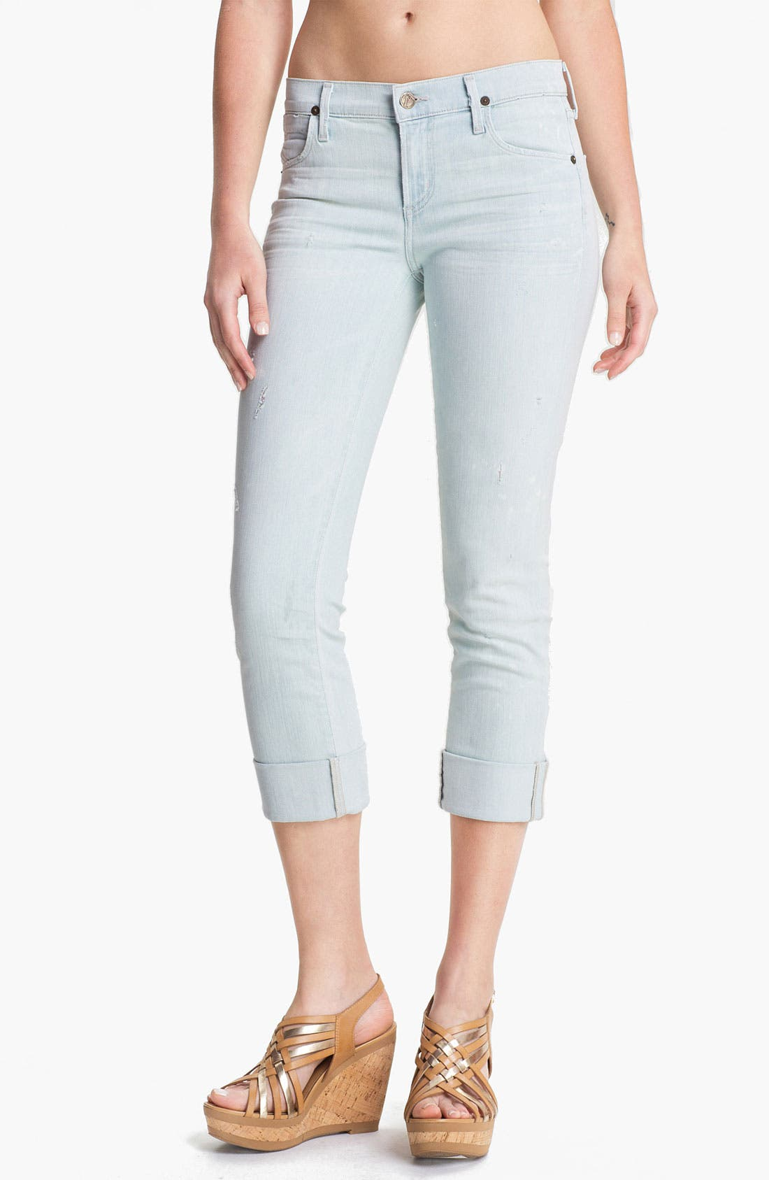 Alternate Image 1 Selected - Citizens of Humanity 'Dani' Crop Straight Leg Jeans (Renegade)