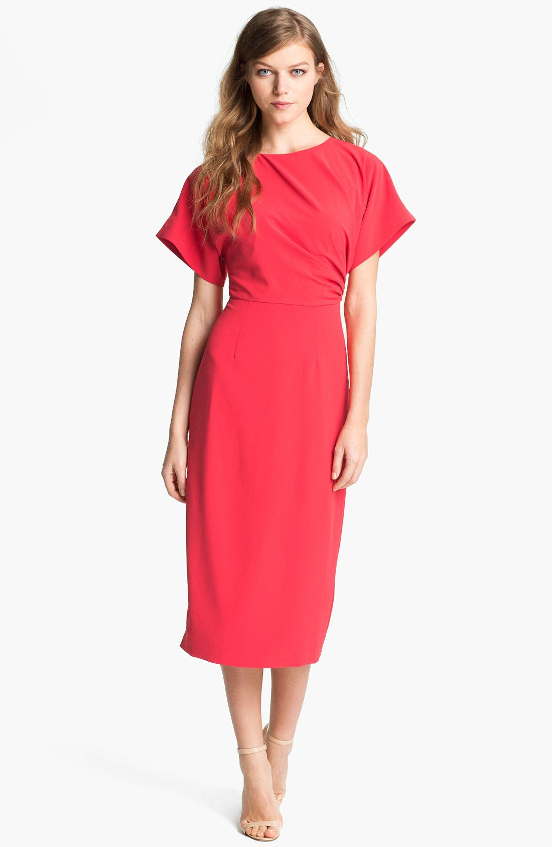 Main Image - Ted Baker London Gathered Midi Dress (Online Only)