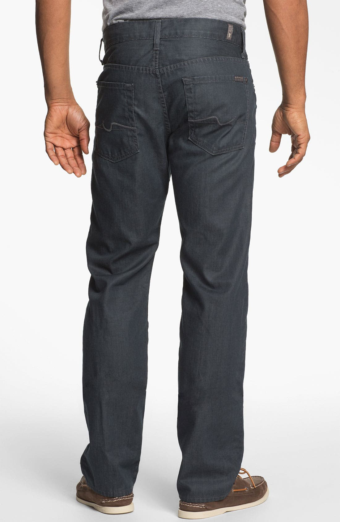 Alternate Image 1 Selected - 7 For All Mankind® 'Slimmy' Slim Fit Jeans (Cool Grey)