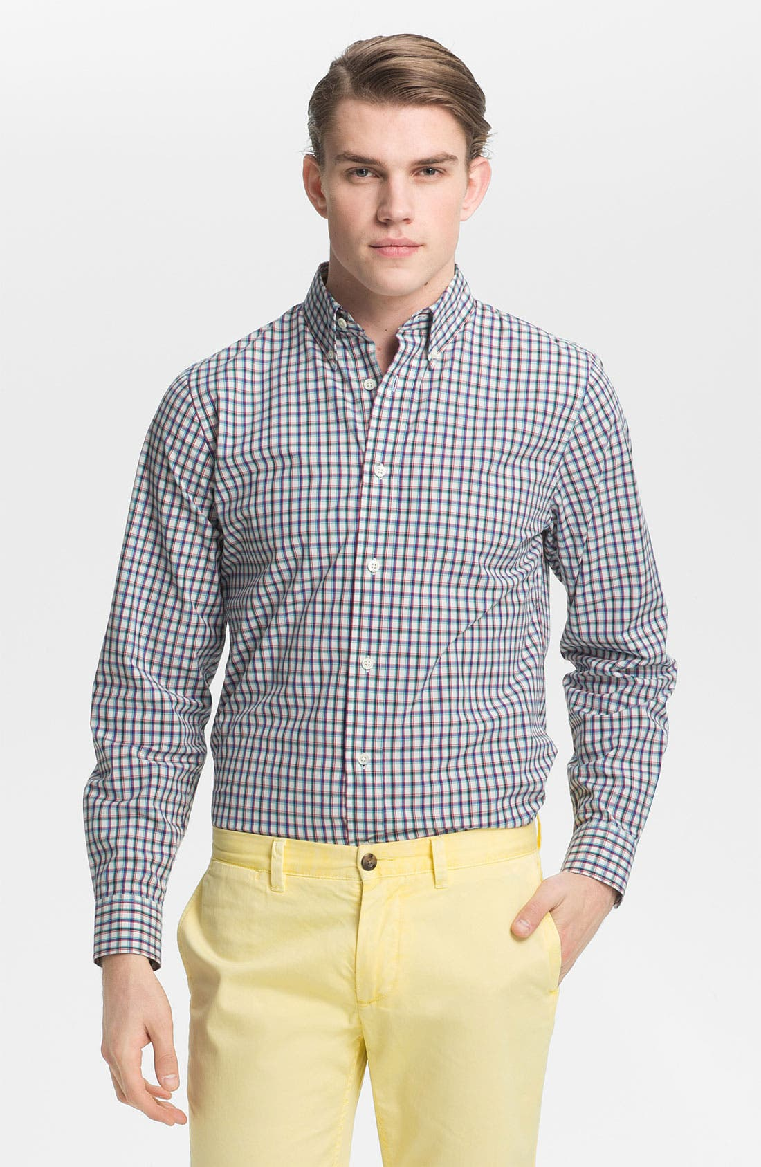 Alternate Image 1 Selected - Jack Spade 'Barbary' Plaid Woven Shirt