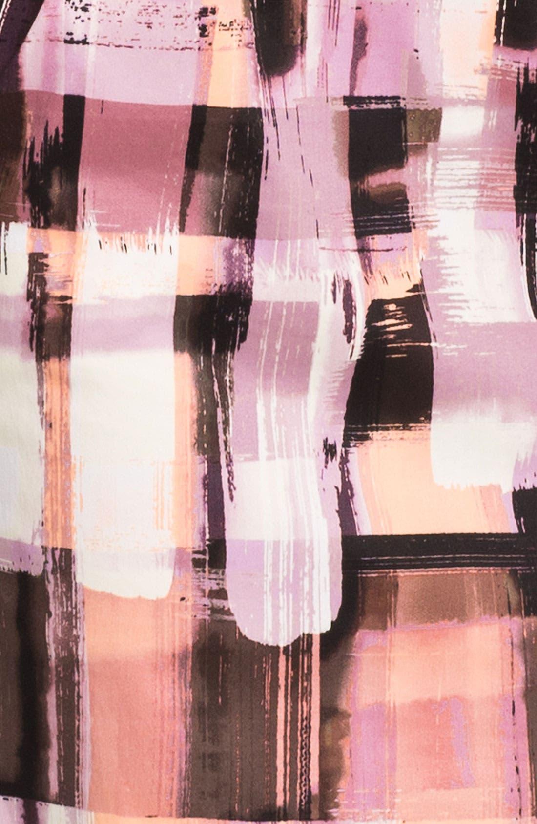 Alternate Image 3  - Maggy London Plaid Print Belted Sheath Dress