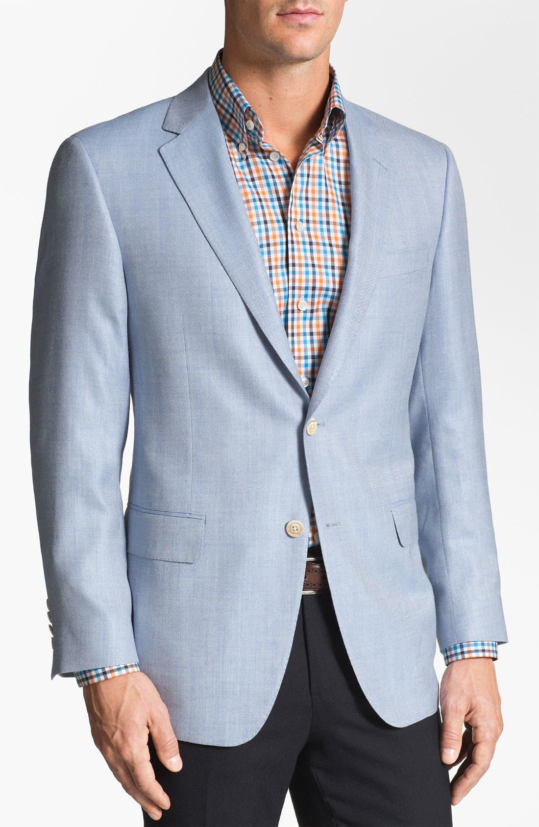 Main Image - Samuelsohn Silk Blend Sportcoat
