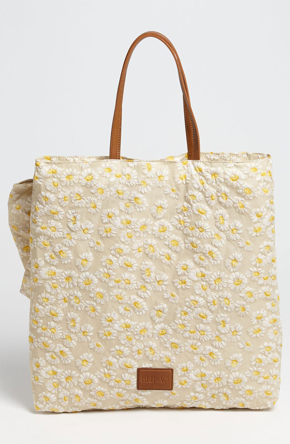 Alternate Image 4  - RED Valentino 'Daisy Print' Bow Tote