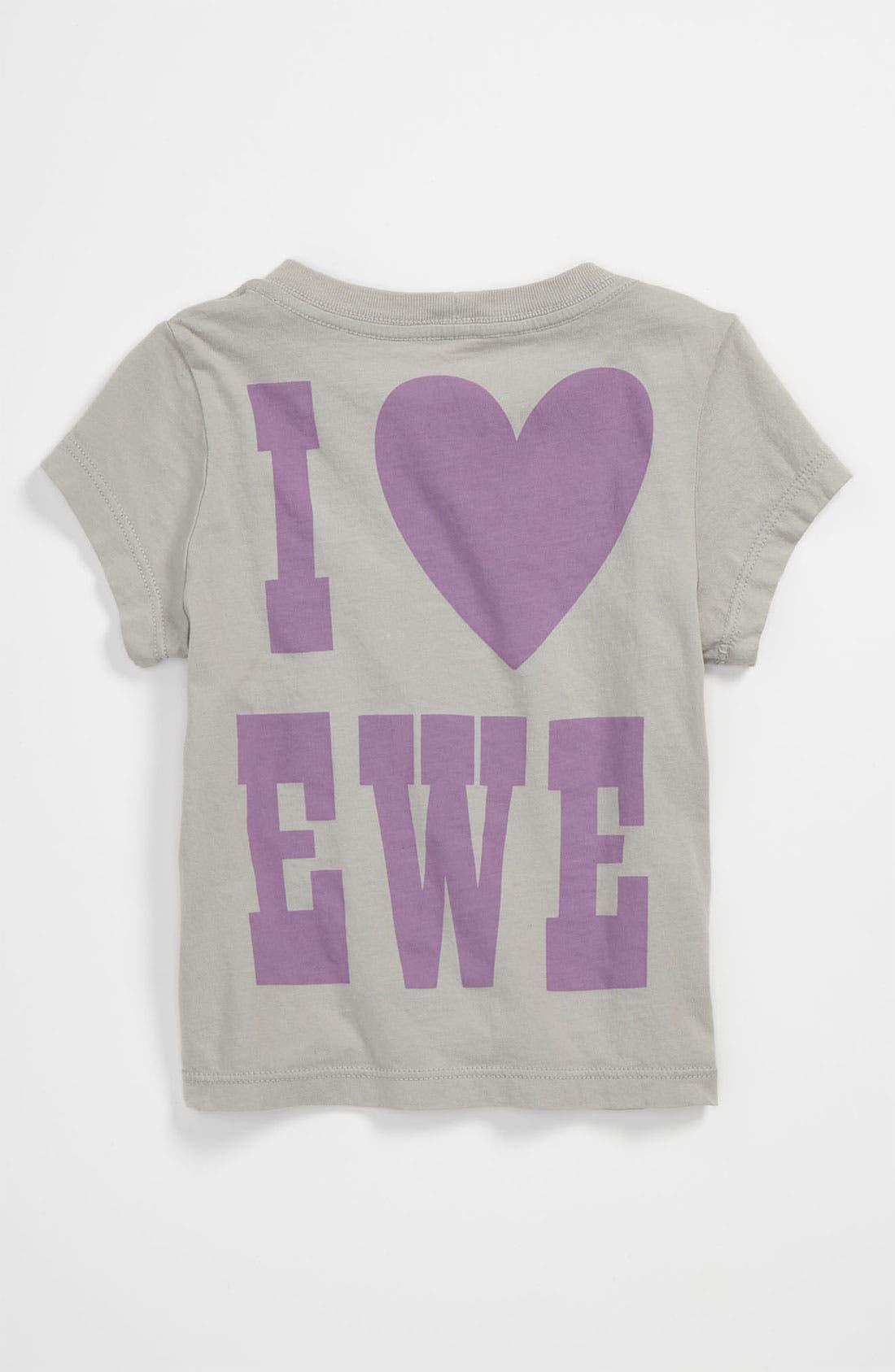 Alternate Image 2  - Peek 'I Love Ewe' Tee (Baby)