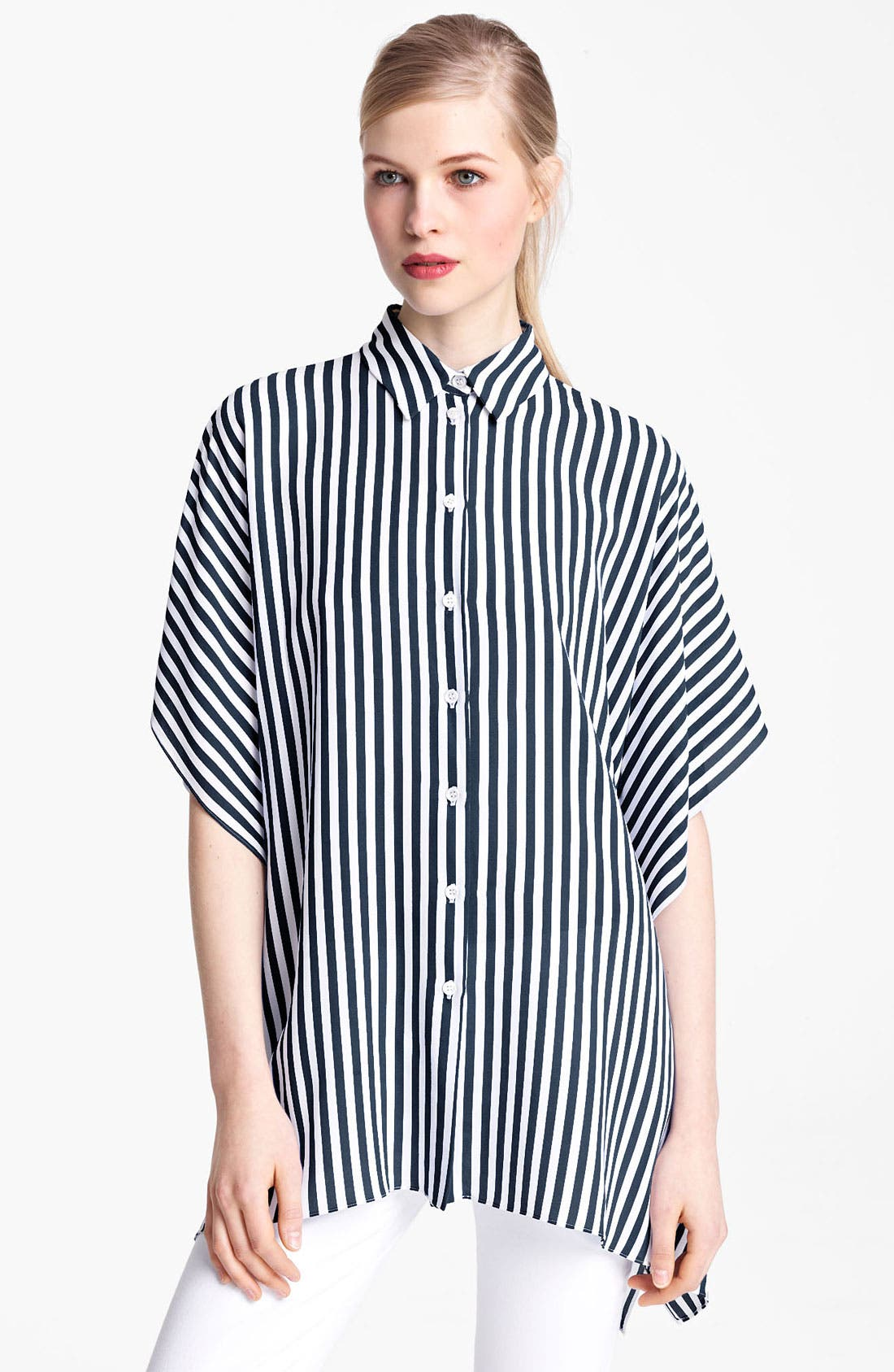 Alternate Image 1 Selected - Michael Kors Kimono Sleeve Georgette Tunic Top