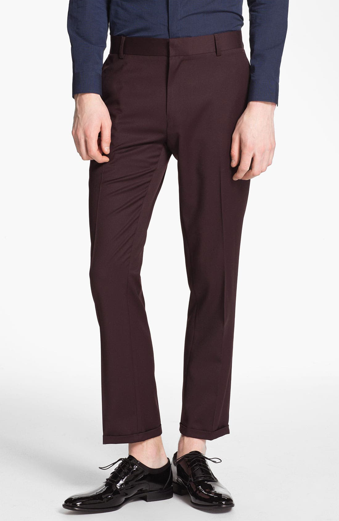 Alternate Image 1 Selected - Topman Skinny Fit Trousers