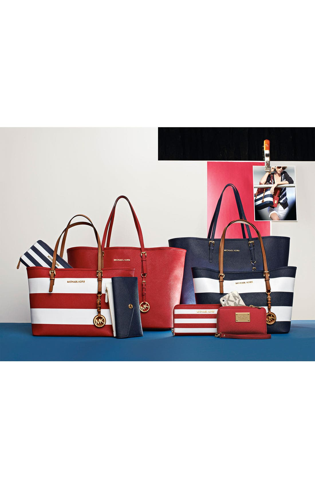 Alternate Image 2  - MICHAEL Michael Kors 'Jet Set - Small' Travel Tote