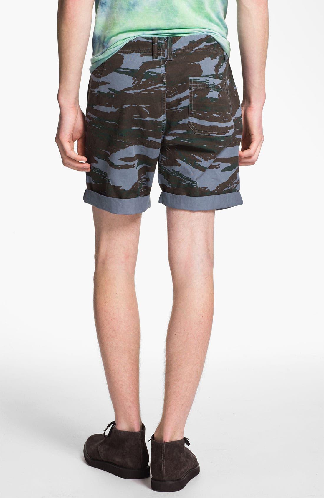 Alternate Image 4  - Topman Camo Print Shorts
