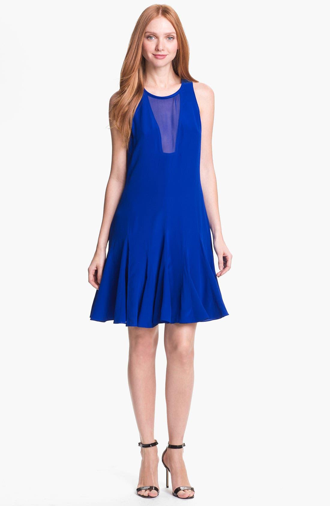 Alternate Image 1 Selected - Rebecca Taylor Pieced Godet Dress