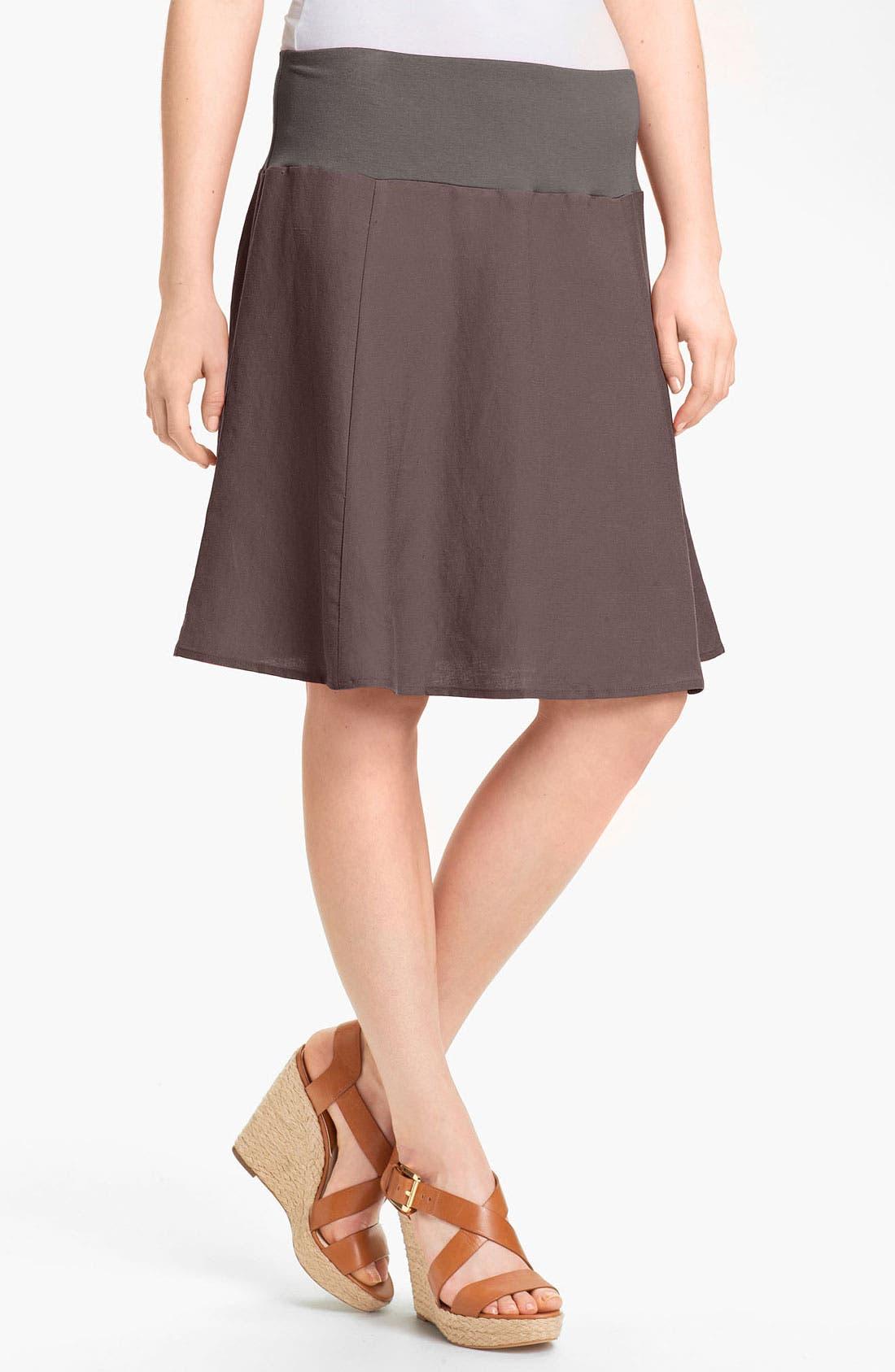 Alternate Image 1 Selected - Olivia Moon Linen Blend Skirt