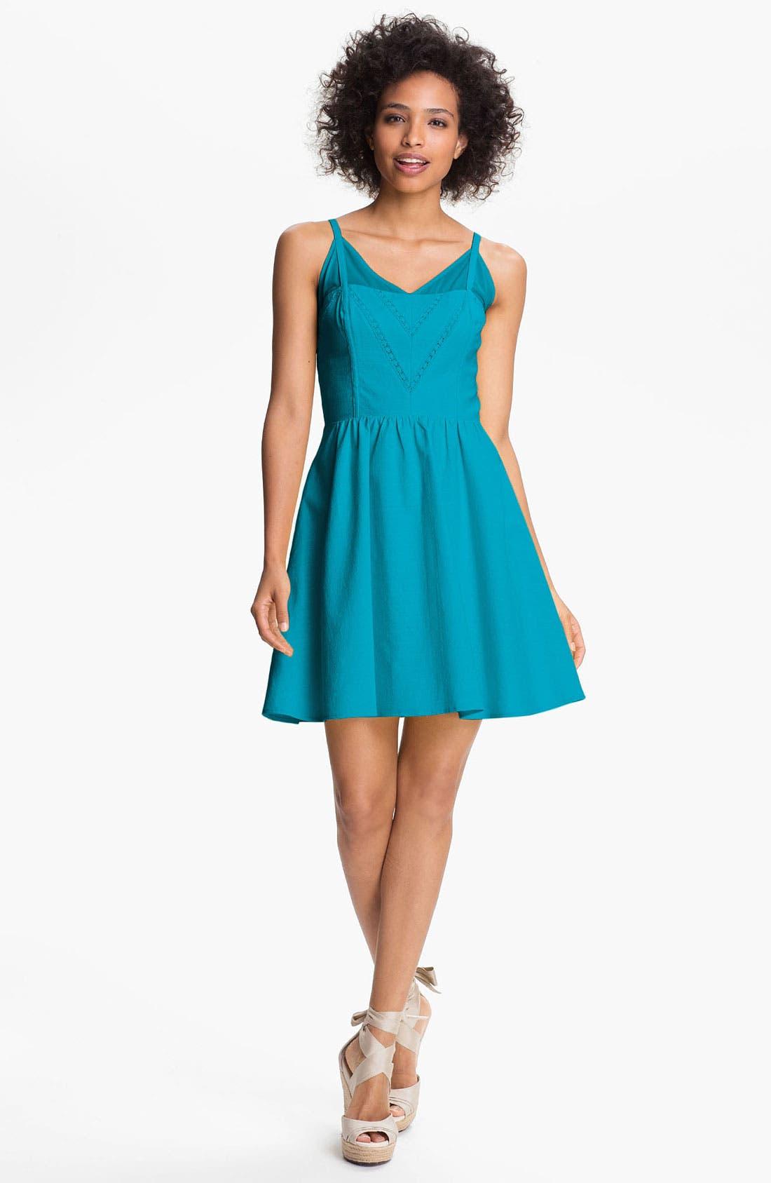 Alternate Image 1 Selected - Jessica Simpson V-Neck Fit & Flare Dress