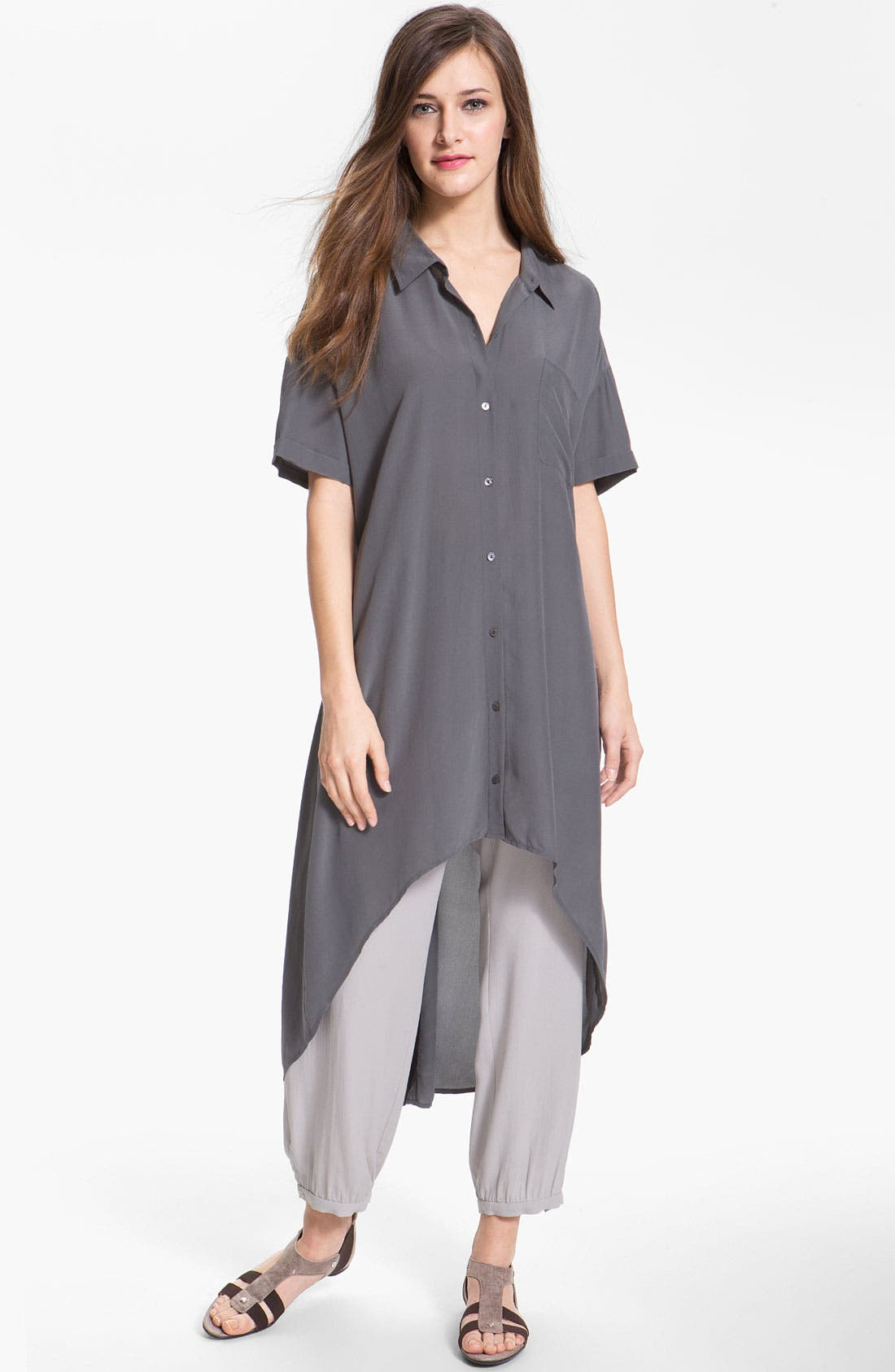 Alternate Image 1 Selected - Eileen Fisher Silk Crêpe de Chine Shirtdress